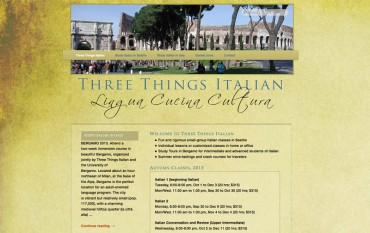 Three Things Italian