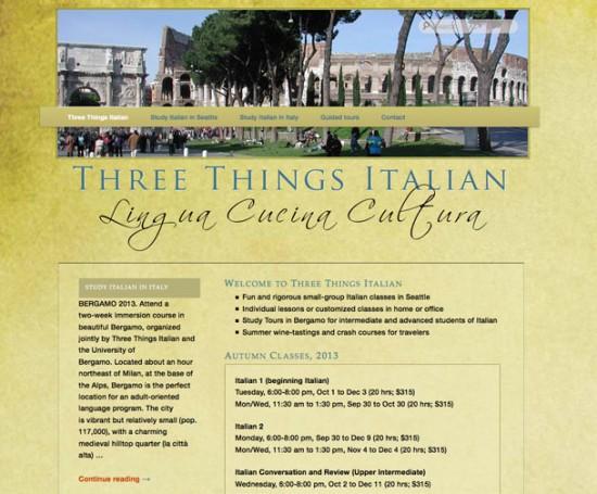 Three Things Italian